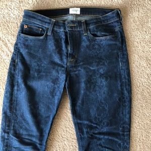 Hudson printed skinny jeans